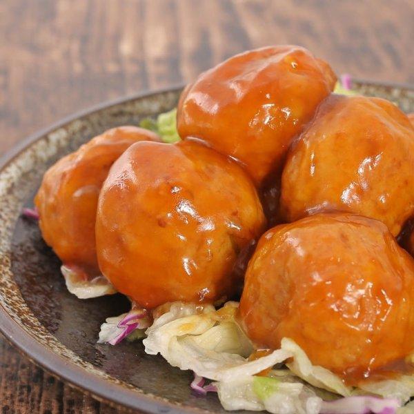 画像1: 大きな豆腐肉団子/黒酢あん(8個入り) (1)