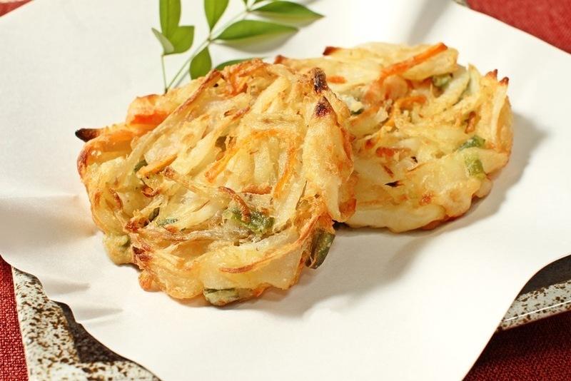 野菜かき揚げ 皿盛りイメージ